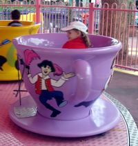Tea cup ride - not my cup of tea!