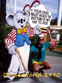 Height Restrictions at Dreamworld 1990