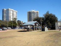 Foreshore at Burleigh Heads beach Gold Coast.