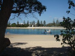 Tallebudgera Beach as seen from the North side of the creek.