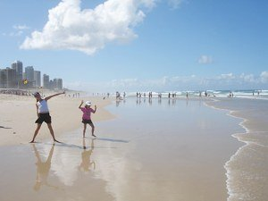 Gold Coast on the beach at any time of year