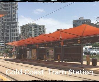 Tram station on Gold Coast