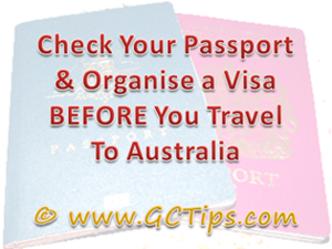 Gold Coast Visa Tip
