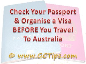 Gold Coast Visa Tip