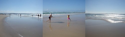 Greenmount Beach Fun on Beach at Coolangatta