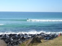 Lone surfer on Burleigh Heads famous point break