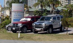 Luxury car hire Surfers Paradise.