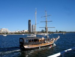Tall Ship Cruise on Maranoa to South Stradbroke Island