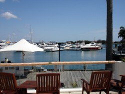 Enjoy a coffee with a view at Marina Mirage!