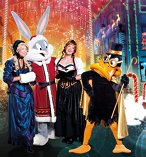 Movie World White Christmas with Looney Tunes Characters