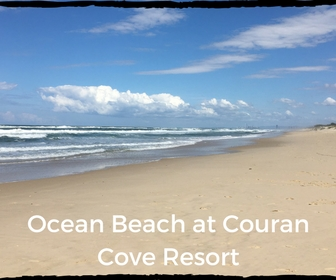 Ocean Beachfront View from close to Couran Cove Beach Surf Club.