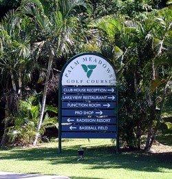 Palm Meadows Gold Coast golf sign