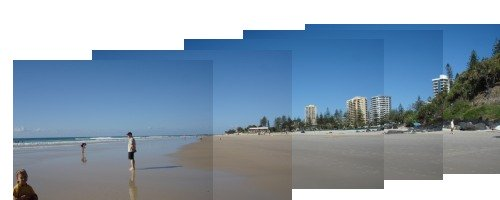 Rainbow Bay beach at Coolangatta an afternoon panorama - one of my favourite Gold Coast Beaches