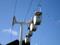 Sea World Sky Way Cable car goes to the heart of the park.