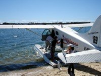 Seaplane flight on Gold Coast in October.