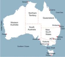 Australia Map Simple.Map Of Australia