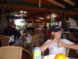 South Stradbroke Island Resort bar and restaurant area.