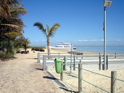 Tangalooma Ferry On the Beach