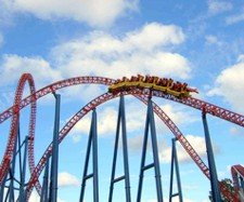 Theme Park rollercoaster rides are one of the attractions of the Gold Coast