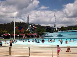 Wave Pool at Wet n Wild Gold Coast