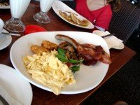 Northcliffe Surf Club Big Breakfast - so delicious and great value.